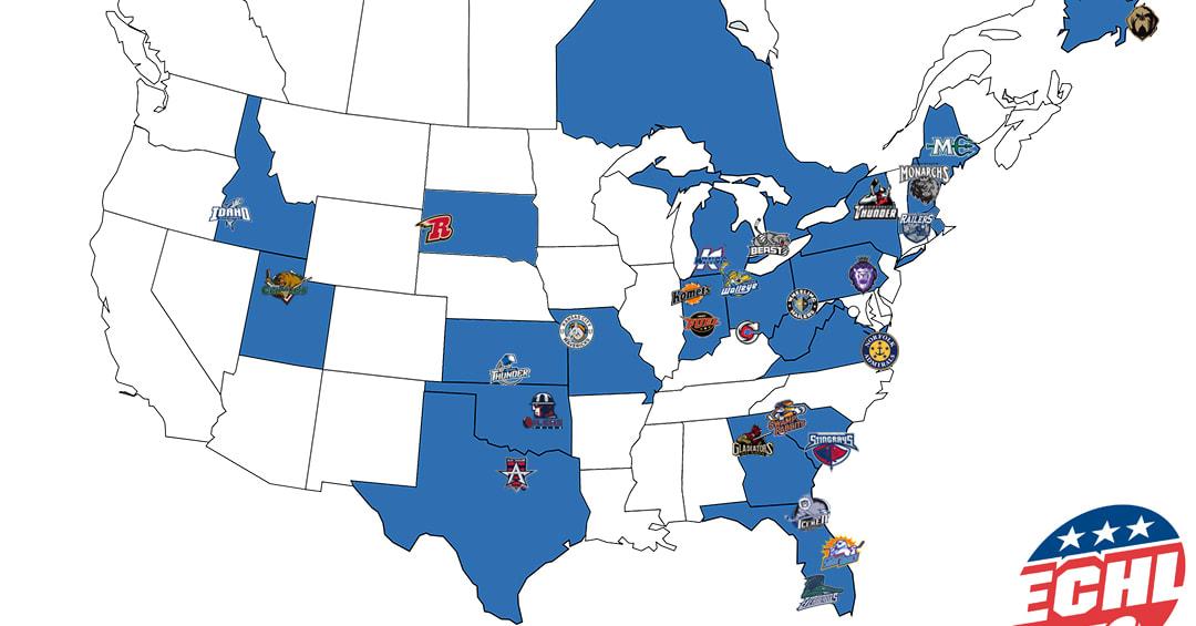 ECHL Team Map